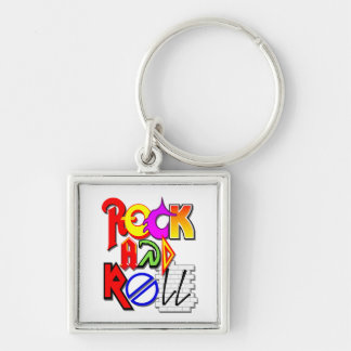 Rock-and-Roll Keychain (weiß) Schlüsselanhänger