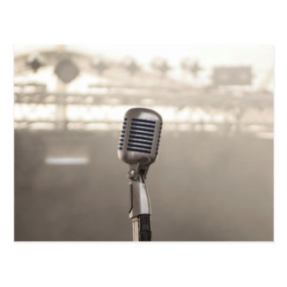 Rock And Roll Microphone Postkarte