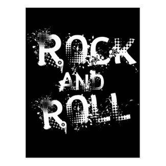 Rock-and-Roll Postkarte