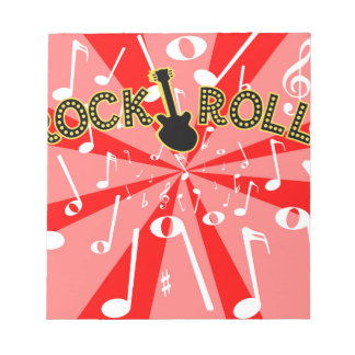 Rock-and-Rollgeräusche Notizblock