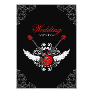 Rock-and-Rollhochzeits-Einladung 12,7 X 17,8 Cm Einladungskarte
