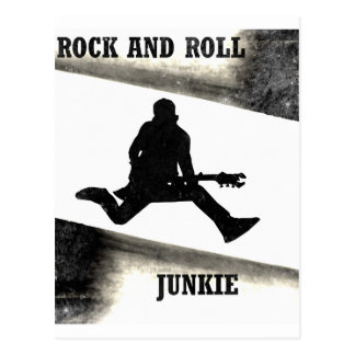 Rock-and-Rolljunkie Postkarte