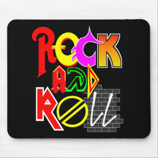 Rock-and-RollMausunterlage (Schwarzes) Mousepads