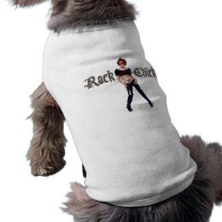 Rock-Küken-Schmutz-Kunst Hund Shirt
