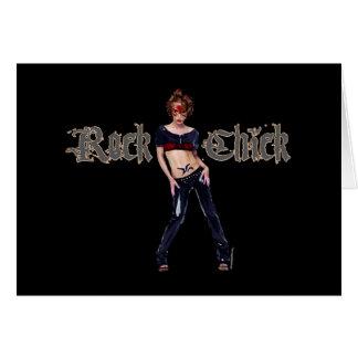 Rock-Küken-Schmutz-Kunst Mitteilungskarte