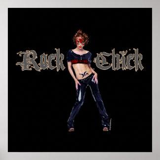 Rock-Küken-Schmutz-Kunst Plakate