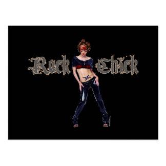 Rock-Küken-Schmutz-Kunst Postkarte