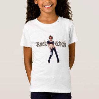 Rock-Küken-Schmutz-Kunst T-Shirt