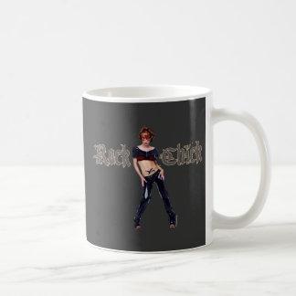 Rock-Küken-Schmutz-Kunst Tasse