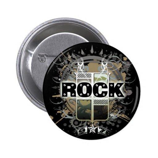 "Rock=Life ""Vintager Felsen-"" Abzeichen Buttons"