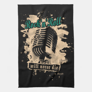 Rock-n-Roll Microphone - green Geschirrtuch