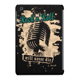 Rock-n-Roll Microphone - green iPad Mini Cover