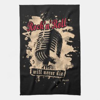 Rock-n-Roll Microphone - red Geschirrtuch