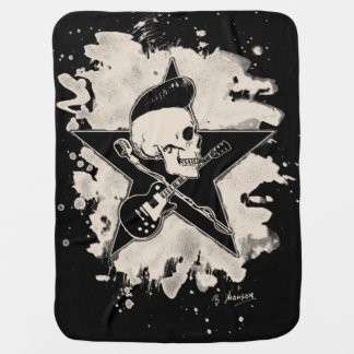 Rock-n-Roll Skull - bleached Babydecke