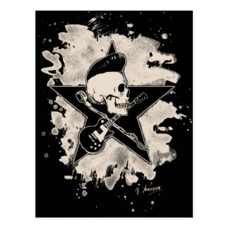 Rock-n-Roll Skull - bleached Postkarte