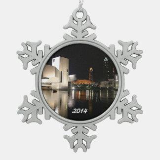 Rock n RollenHall of Fame, Cleveland-Schneeflocke Schneeflocken Zinn-Ornament