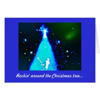 Rock n Rollenmusik-Weihnachtskarte Karte