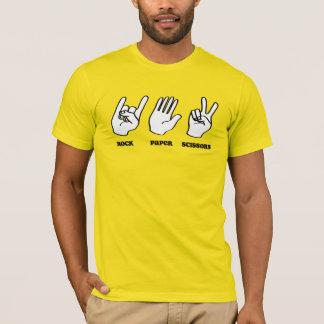 Rock-Papierschere-Musik T-Shirt