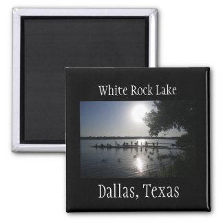 Rock See-Magnet Dallas-Texas weißer Quadratischer Magnet