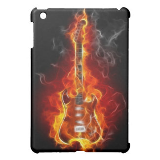 Rock-u. Rollengitarre in den Flammen iPad Mini Hüllen