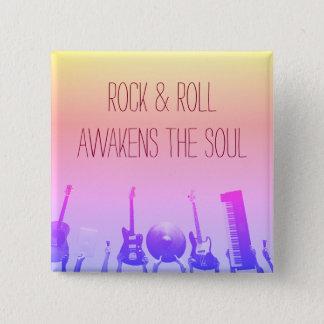 Rock-u. Rollenknopf - kundengerecht Quadratischer Button 5,1 Cm