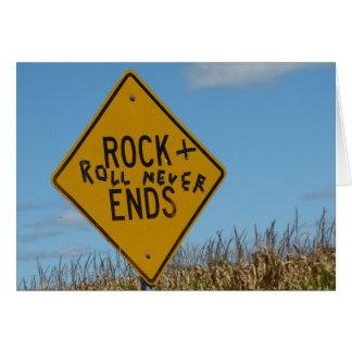 Rock-u. Rollennie Enden, Grußkarte