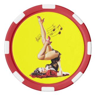 Rockabilly Göttin II Poker Chips Sets