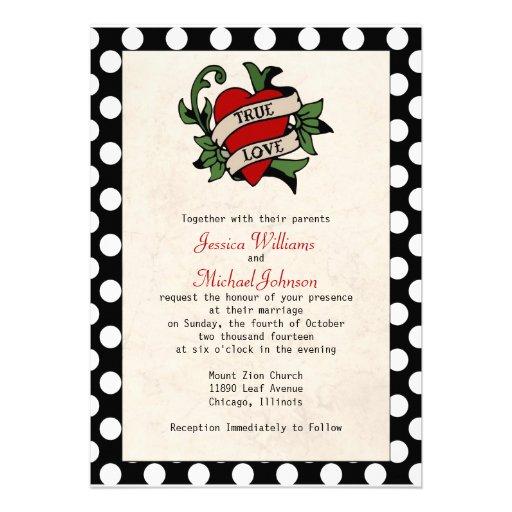 Rockabilly Hochzeit Einladung