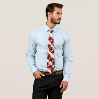Rockabilly Schädel-u. Rosen-Tätowierung auf Krawatte