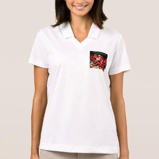 rockabilly Weihnachtsspitze Sankt Polo Shirt