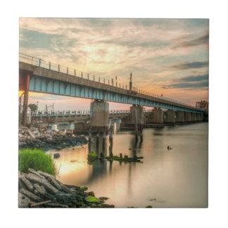 Rockaway Zug-Brücke Keramikfliese