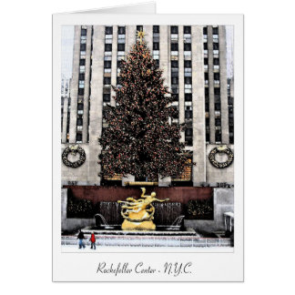 Rockefeller-Mitte - New York City Grußkarte
