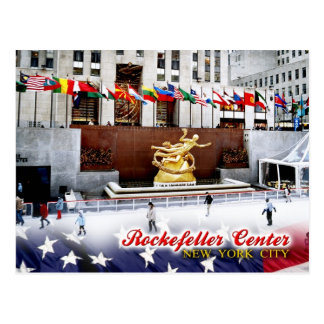 Rockefeller-Mitte, New York City Postkarte