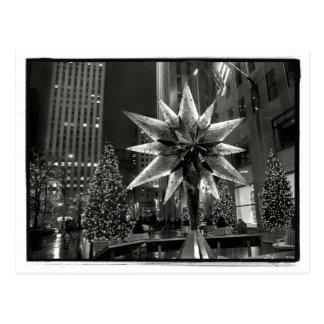 Rockefeller-Piazza-Kristallstern-Postkarte Postkarte