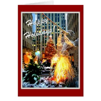 Rockefellermittelweihnachtsbaum-Gruß-Karten Karte