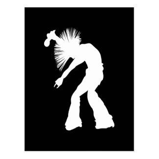 Rocker-Silhouette Postkarte