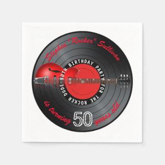 Rocker-Typ-Gitarren-Aufzeichnungs-50. Serviette
