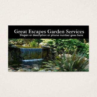 Rockery-Wasser-im Garten Visitenkarte