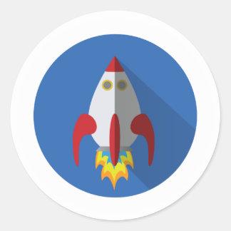Rocket-Aufkleber Runder Aufkleber