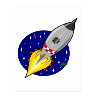 Rocket fliegen zur Freiheit und zum Erfolg Postkarte
