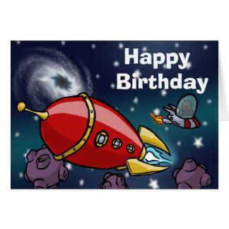 Rocket-Geburtstags-Karte Karte