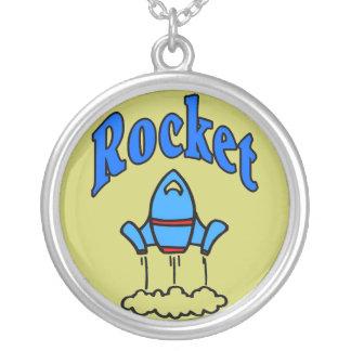Rocket-Kinder Versilberte Kette