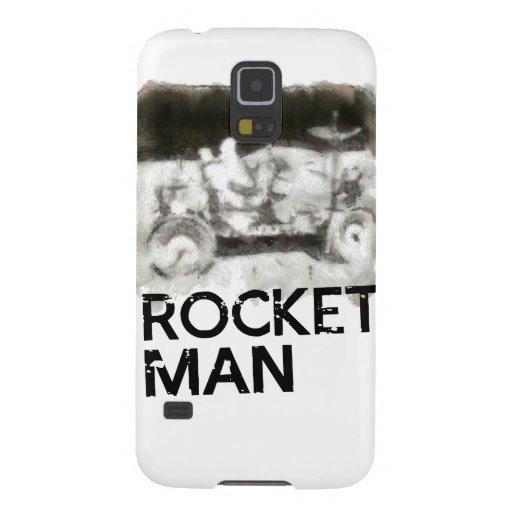 Rocket-Mann-Astronaut auf dem Mond Galaxy S5 Hüllen
