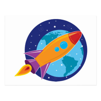 Rocket Postkarte