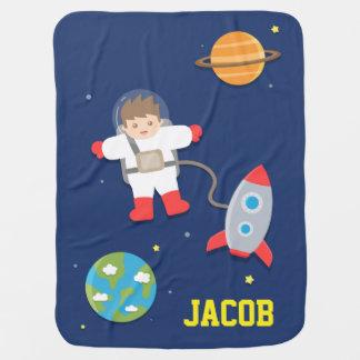 Rocket-Schiff, Astronaut, Weltraum, für Babys Babydecke