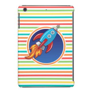 Rocket-Schiff Helle Regenbogen-Streifen iPad Mini Hüllen