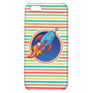 Rocket-Schiff Helle Regenbogen-Streifen iPhone 5C Cover