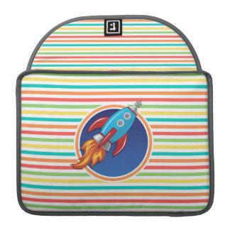 Rocket-Schiff Helle Regenbogen-Streifen Sleeves Für MacBook Pro