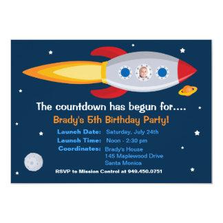 Rocket-Schiffs-Geburtstags-Party Einladung