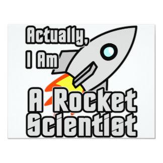 Rocket-Wissenschaftler 10,8 X 14 Cm Einladungskarte